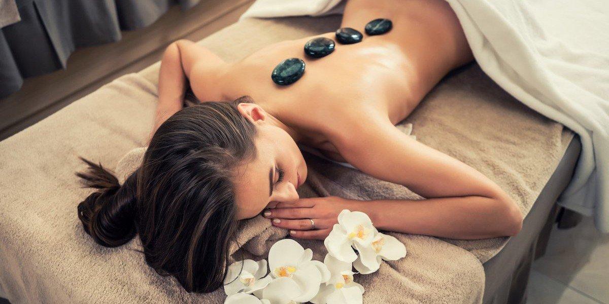 масаж с вулканични камъни, масаж, камъни