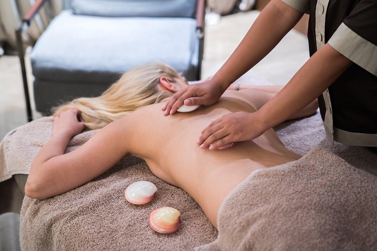масаж с миди, lava shells масаж, спа процедури